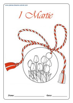 desene de colorat cu martisor 5 8 Martie, Mothers Day Crafts, Spring Colors, Painting, Coloring, Glass, Stamps, Drinkware, Painting Art