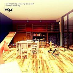 Projeto para aproveitamento do porão com Brinquedoteca. Casa E&A. _Arquitetura.Urbanismo.Mobiliário.Decoração