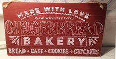 Bread Cake, Love Always, Cupcake Cookies, Chalkboard Quotes, Art Quotes, Gingerbread, Homemade, Decor, Decoration