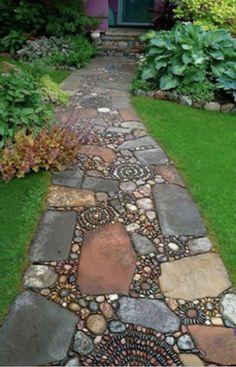 Mosaic walkway.  Loving it!