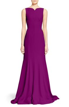 OSCAR DE LA RENTA Sleeveless Satin Crepe Gown. #oscardelarenta #cloth #