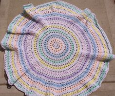 crochet motif baby blanket called circles - Google Search