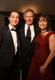 Actors Shia LaBeouf, Harrison Ford and Karen Allen attend the 'Indiana Jones and the Kingdom of the Crystal Skull' party during the 61st Cannes Film Festival on May 18, 2008 in Cannes, France.