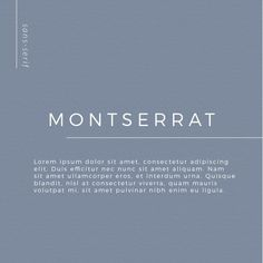 Choosing the proper font combination will give you a luxurious, modern, traditional, or feminine feel. Montserrat, one of my favorite san serif fonts. Best Serif Fonts, Sans Serif Fonts, Typography Love, Vintage Typography, Adobe Indesign, Free Cursive Fonts, Font Free, Masculine Font, Vintage Fonts