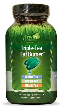 Triple-Tea Fat Burner® is infused with a blend of White, Green and Black Tea extracts that supply a powerful combination of thermogenic ingredients with super antioxidant protection. When used with exercise and a healthy diet, Triple-Tea Fat Burner® can help with weight loss. Please visit IrwinNaturals.com for more information about this product.