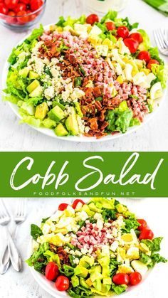 Jan 2020 - This Cobb Salad recipe is the perfect entree salad recipe. It's also a great way to use up leftover Easter ham and hard boiled eggs. Chef Salad Recipes, Best Salad Recipes, Healthy Recipes, Ham Recipes, Lunch Recipes, Dinner Recipes, Easy Salads, Summer Salads, Hard Boiled