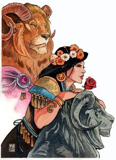 Original Comic Art titled Beauty and The Beast, located in Brian's Comic Art Favorites! Beauty And The Beast Art, Beauty And The Beat, Alternative Disney, Hades And Persephone, Great Love Stories, Fairytale Art, Disney Art, Disney Stuff, Types Of Art