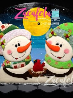 Snowman, Snoopy, Christmas, Fictional Characters, Tela, Vestidos, Christmas Cushions, Bear Felt, Christmas Paintings