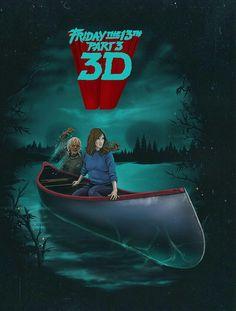 Friday the Part Horror Movie Characters, Horror Movie Posters, Horror Icons, Horror Films, Friday The 13th Poster, Horror Artwork, Movie Covers, Halloween Horror, Scary Movies