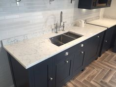 Caesarstone White Attica Stone Kitchen Copper New Island Updated