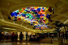 Dale Chihuly glass art in the Bellagio Hotel