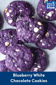 Cookie Desserts, Vegan Desserts, Just Desserts, Cookie Recipes, Dessert Recipes, Vegan Blueberry Recipes, Crinkle Cookies, Chip Cookies, White Chocolate Cookies