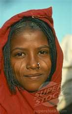 Northern Sudan girl with facial scarring