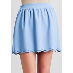 Ruche One Step Closer Scalloped Skirt (29 CAD) ❤ liked on Polyvore featuring skirts, bottoms, bottoms - skirts, saias, ruched skirt, women skirts, scalloped skirt, blue pleated skirt and blue skirt