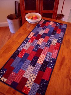 Quilted Table Runner Patchwork Table Runner by Sewsouthernquilts