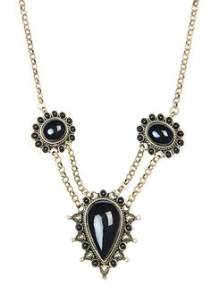 TOUCH - Chain jeweled necklace