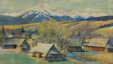 Aleksander Augustynowicz: Pejzaż podtatrzański, 1916 r., akwarela, papier, 71,5 x 126 cm