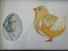 paper iris folding chicken and egg