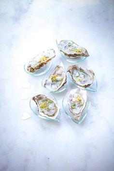 recette st Valentin, huitres passion, sauce fraiche, passion, citron-saint valentin