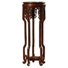 Solid Wood Mahogany Pedestal Plant Stand