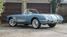 Classic Car News – Classic Car News Pics And Videos From Around The World 1958 Corvette, Chevrolet Corvette, Old Classic Cars, Classic Sports Cars, My Dream Car, Dream Cars, Chevy, Classic Corvette, Car Man Cave