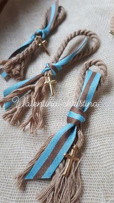 Μαρτυρικά βάπτισης πετου για αγόρι by valentina-christina Tassel Necklace, Diy And Crafts, Bling, Jewels, Key Chain, Bracelets, Leather, Craft Ideas, Accessories