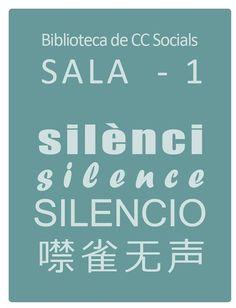 Silenci Silencio Silence #UniversitatdeValencia #BibliotecaCienciesSocials