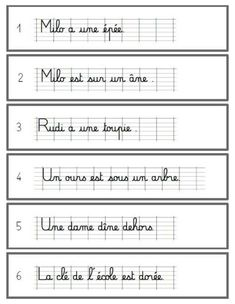Copie et Dessine version modèle cursif ligné - CP French Cursive, Cute Handwriting, School Checklist, French Worksheets, French Language Learning, Alphabet Activities, Teaching French, Learn French, Letters