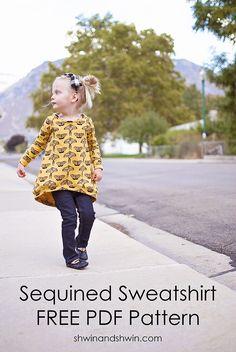 Sequined Raglan Sweatshirt    Free Pattern    Shwin&Shwin
