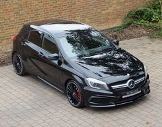Just Arrived - Mercedes A45 AMG in Cosmos Black – Great looking hot hatch! #MercedesAMG http://www.romansinternational.com/car/1003/mercedes-a45-amg …