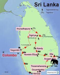 Sri Lanka_Reiseroute