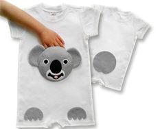 new baby gift, baby clothes, koala baby, baby shower gift, baby onesie, personalized baby, baby romper, animal onesie, onesie, zoo, safari