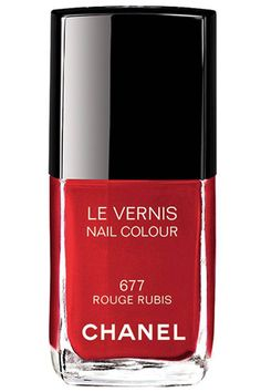 Girl On Fire: Fall's 10 Prettiest Red Polishes. Chanel Le Vernis in Rouge Rubis,