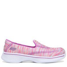 Skechers Kids' GoWalk 4 Kindle Memory Foam Slip On Pre/Grade School Shoes (Pink/Multi) - 11.5 M