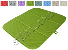 High Quality 16inch x 18inches Waffle Weave Dish Drying Mat For Kitchen Microfiber Cushion Pad XL - Light Green