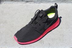 Nike Roshe Run - Black / Siren Red   KicksOnFire