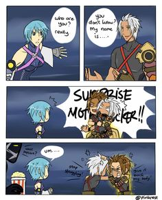 based on terra scene from kh too lazy to draw Ven hhaaa- Kingdom Hearts 3, Kingdom Hearts Characters, Kh 3, Funny As Hell, Disney Memes, Funny Games, So Little Time, Final Fantasy, Fan Art