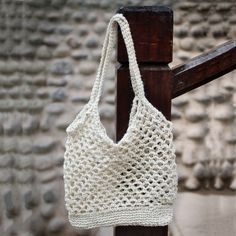 Handcrafted Jute 'Ivory Textures' Shoulder Bag (Peru) - Brought to you by Avarsha.com