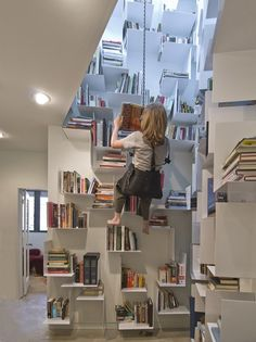Vertical Bookshelves i know some kids (and adults) that would love this ;)