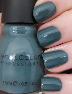 Sinful Colors in Leap Flog ~ Soft Summer dusky deep blue Sinful Colors Polish, Sinful Colors Nail Polish, Nail Colors, Essie Polish, Nail Polishes, Love Nails, How To Do Nails, Fun Nails, Pretty Nails