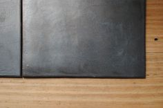 Anchor Ceramics tiles in 200 x 150 hand made/ glazed black tiles.