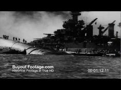 HD Stock Footage WWII Japanese Attack on Pearl Harbor Aftermath