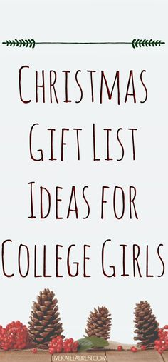 The Ultimate Christmas List for college girls! Christmas Present Guide, Christmas Presents For Girls, Student Christmas Gifts, College Student Gifts, Christmas Gifts For Friends, Gifts For College Girls, Christmas Ideas, College Survival, Free