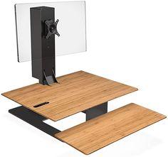 Amazon.com: Uplift Desk - E7 Electric Standing Desk Converter with Bamboo Desktop and Black Base: Home & Kitchen Home Office Desks, Office Furniture, Electric Standing Desk, Sit To Stand, Light Oak, Herman Miller, Home Kitchens, Ikea, Desktop
