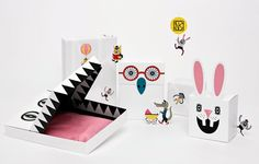 Love this playful and fun packaging for NK designed by Sac Magique. The design is such a nice contrast to the strict, clean and beautifully classic NK logo, which must be on our top-ten list of logos. Kids Packaging, Paper Packaging, Pretty Packaging, Paper Crafts, Diy Crafts, Packaging Design Inspiration, Crafts For Kids, Wraps, Gift Wrapping