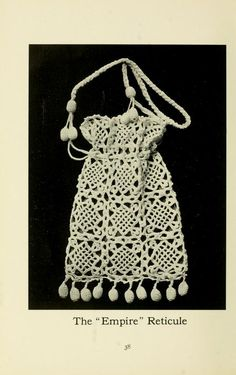 The Glossilla Book of Crochet Novelties - lace bag