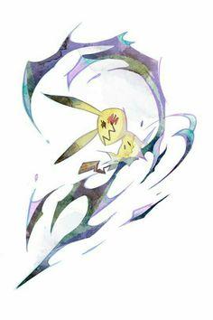 Mimikyu, artwork by Botjira Ghost Pokemon, Pokemon Fan Art, Cute Pokemon, Pokemon Stuff, Pokemon Pokemon, Ghost Type, Fanart, Pokemon Pictures, Kawaii