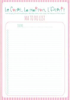 To Do List à imprimer, printable offert