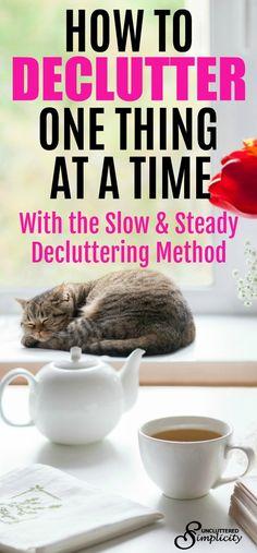 declutter slowly | decluttering methods | how to declutter | clutter-free home | #decluttering #SRES #Realtor
