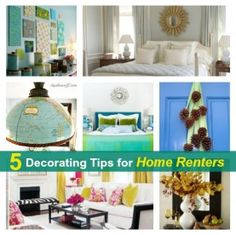 5 decor tips for home renters